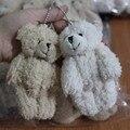 40 шт./лот 11 СМ подарки Промотирования Коричневый мини медведи Пушистые белые медведи плюшевые игрушки teddy bear букет куклы
