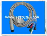 5 LEADS ECG CABLE 6 PIN FOR AAMI AHA STANDARD