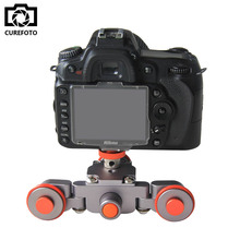 New Flexible Electric Video Dolly 3-Wheel Pulley Car Rail Rolling Track Slider Skater Dolly For Canon Nikon Sony GH4 DSLR Camera цена и фото