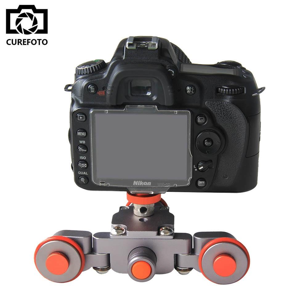 Nuovo Flessibile Elettrico Video Dolly 3 Ruote Auto Puleggia Guida di Rotolamento Track Slider Skater Dolly Per Canon Nikon Sony GH4 DSLR Della Macchina Fotografica