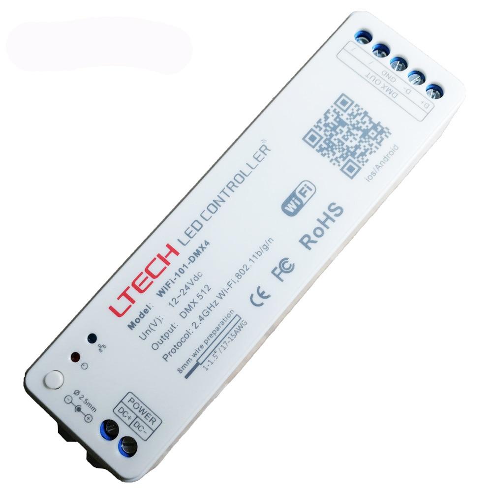 Ltech WiFi Led Controller DMX512 Led RGB strip Converter DC12 24V input DMX signal output Wifi