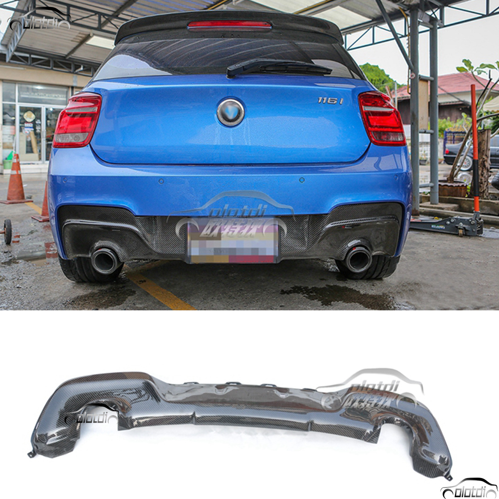 automobiles 1 Series carbon fiber rear bumper lip diffuser For BMW F20 M Sport M-TECH hatchback Only M135i 2012 2013 2014