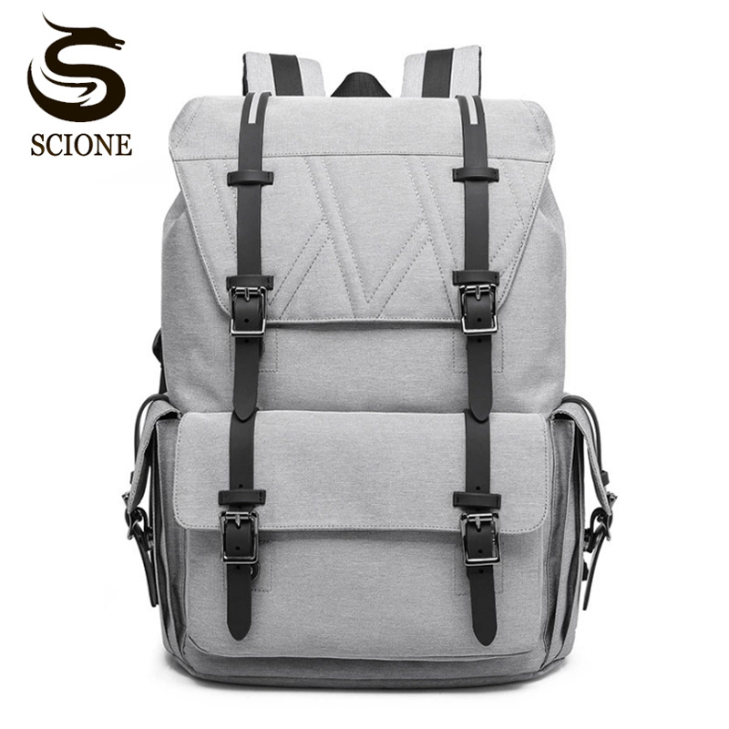 Hot Men Women Canvas Backpacks 20 in Large Capacity Laptop School Bags For Teenagers Travel Backpack Luggage Shoulder Bag 2018 waterproof backpack men school bags for teenagers male large capacity laptop backpacks women travel bag designer rucksack