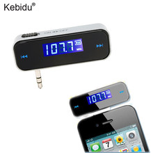 Kebidu Mini Wireless 3.5mm FM Transmitter In-car LCD Vehicle Car Kit Modulator Handsfree MP3 Audio Music Player For Phone(China)