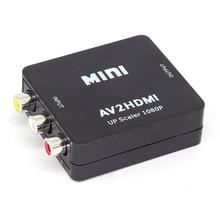 1080P AV to HDMI Video Converter Box AV2HDMI RCA CVBS Adapter for HDTV TV BOX PS3 PS4 PC DVD Xbox Projector