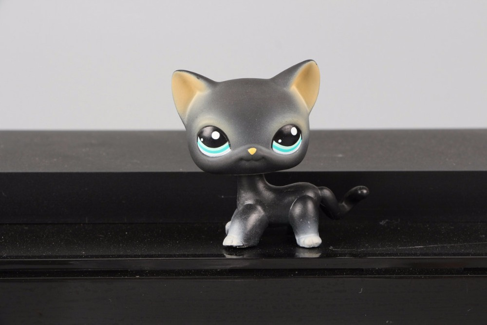 New Pet Collection Figure LPS 994 Black Short Hair Siamese Cat Kitty Kids font b Toys