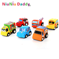 6pcs/lot Pull Back Car Toys Car Children Racing Car Baby Mini Cars Cartoon back of the car Super Street Car Free Shipping