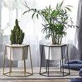 Керамические горшки для растений  высокое качество  Цветочная миска  Поднос С КАКТУСОМ  Геометрическая железная подставка  для сада и дома