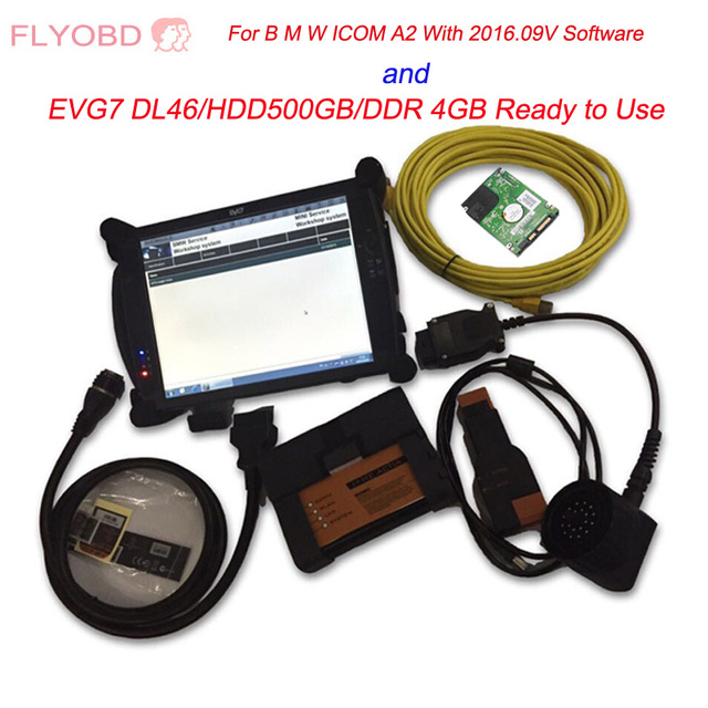 High quality ICOM A2 With 2019.03v  ICOM Software and EVG7 DL46/HDD500GB/DDR 4GB Diagnostic Controller Tablet PC Ready To Use