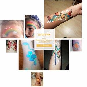 Image 2 - Pro gökkuşağı vücut yüz boya makyaj boyama Pigment 30 g/takım renkli serisi vücut sanatı cadılar bayramı Neon UV metalik yüz boya
