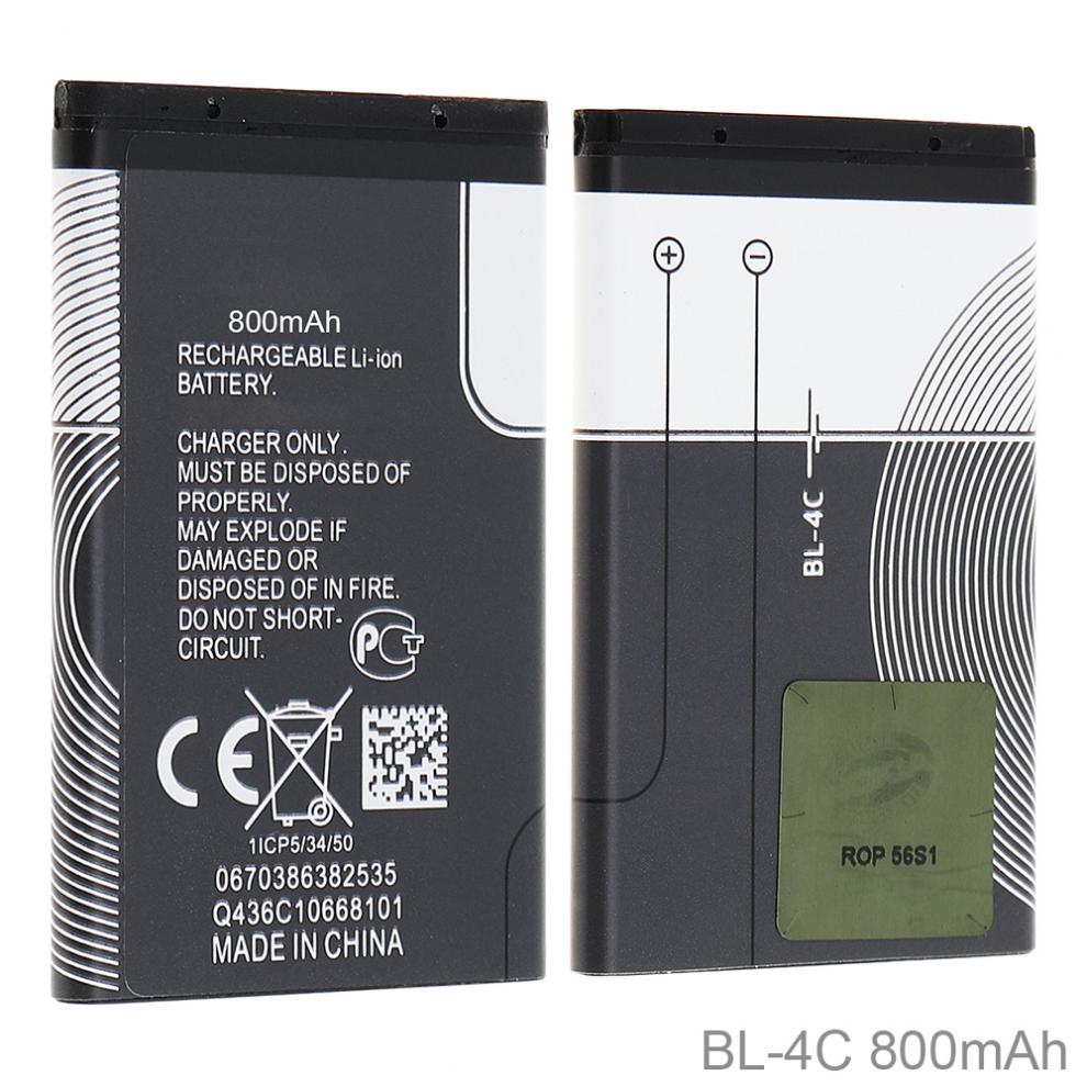 BL-4C 3.7V 800mAh <font><b>Phone</b></font> Built-in Li-ion Replacement Battery with Battery Cells PTC Protection for <font><b>Nokia</b></font> <font><b>6300</b></font> 6100 X2 6101 2220s image