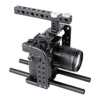 YELANGU Lightweight Aviation Aluminum Alloy CNC Camera Cage Rig Kit for Panasonic Lumix GH5 GH4