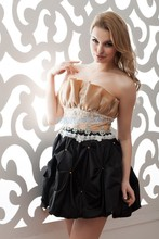 free shipping zuhair murad dress new short formal gown crystal beading custom size/color special occasion sexy Party Dress