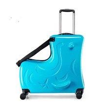 LeTrend милый пони мультфильм детей на колёсиках Спиннер чемодан колеса студентов Многофункциональный тележка детская сумка