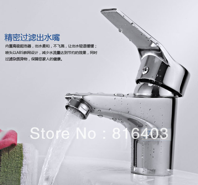 Free shipping Pro Classic Deck Mount Bathroom Basin Faucet Brass Mixer Tap single handle