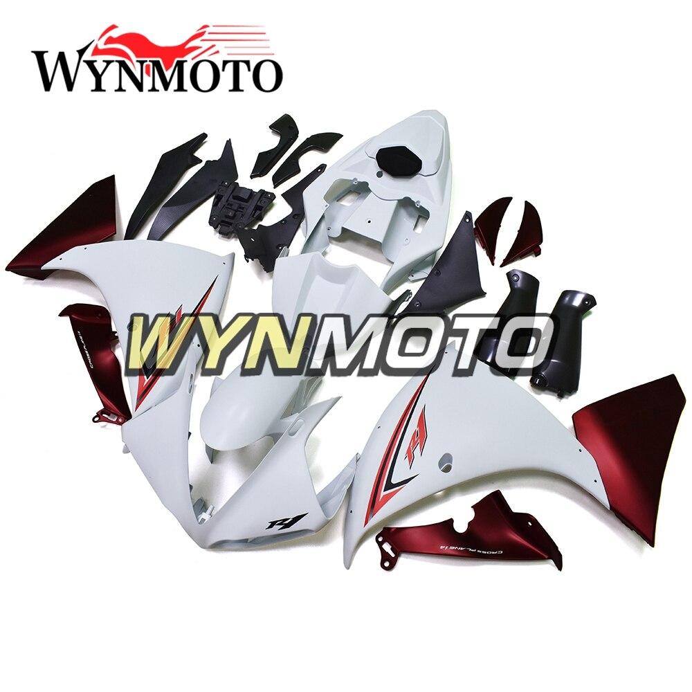 Plein Plastique ABS Injection Blanc Rouge Nouveau Moto Carénages Pour Yamaha YZF R1 2009-2011 Année 2009 Carénages Kit coques Carrosserie