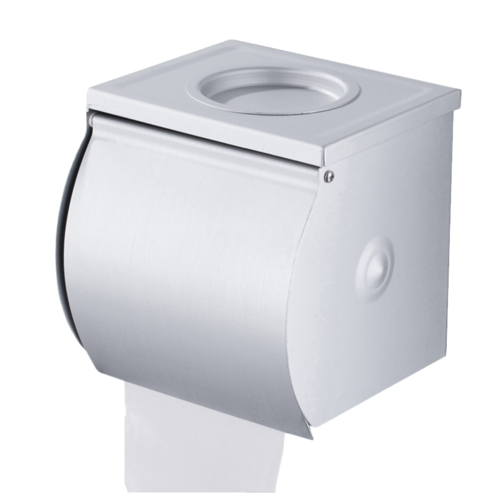 Stainless Steel Roll Tissue Box Toilet Paper Holder Wall Mounted ...