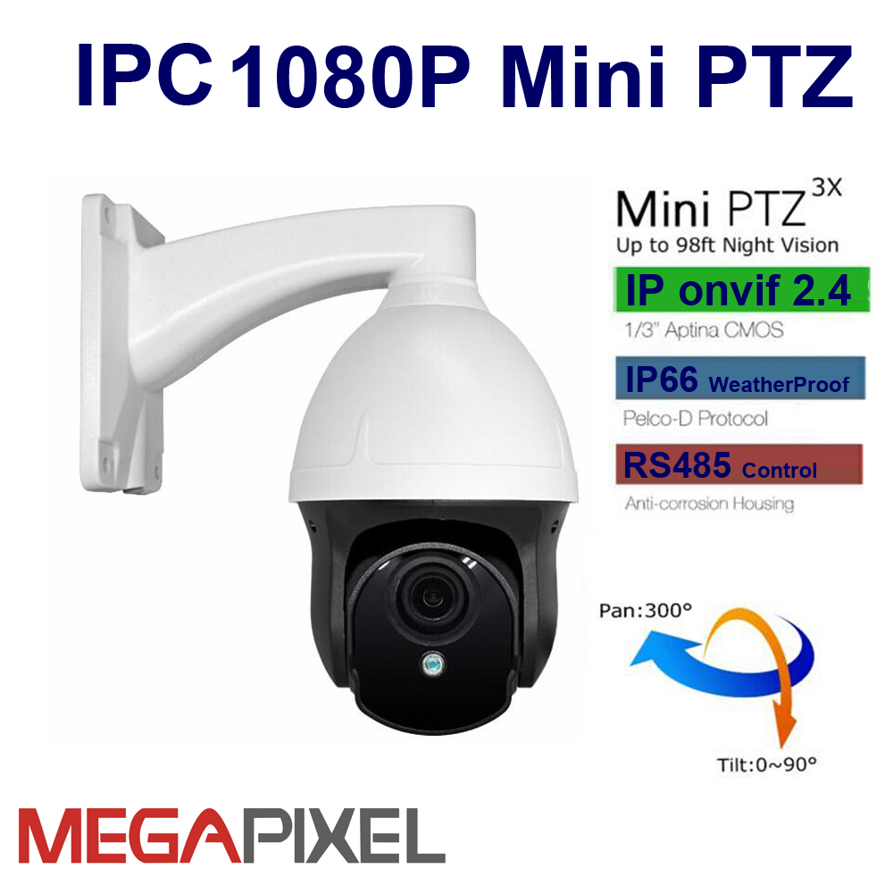 proline ip wv2415ptz10 - CCTV video surveillance IP speed dome Camera mini PTZ 1080P Network Cam Motorized lens 2.8-8mm for home security & protection