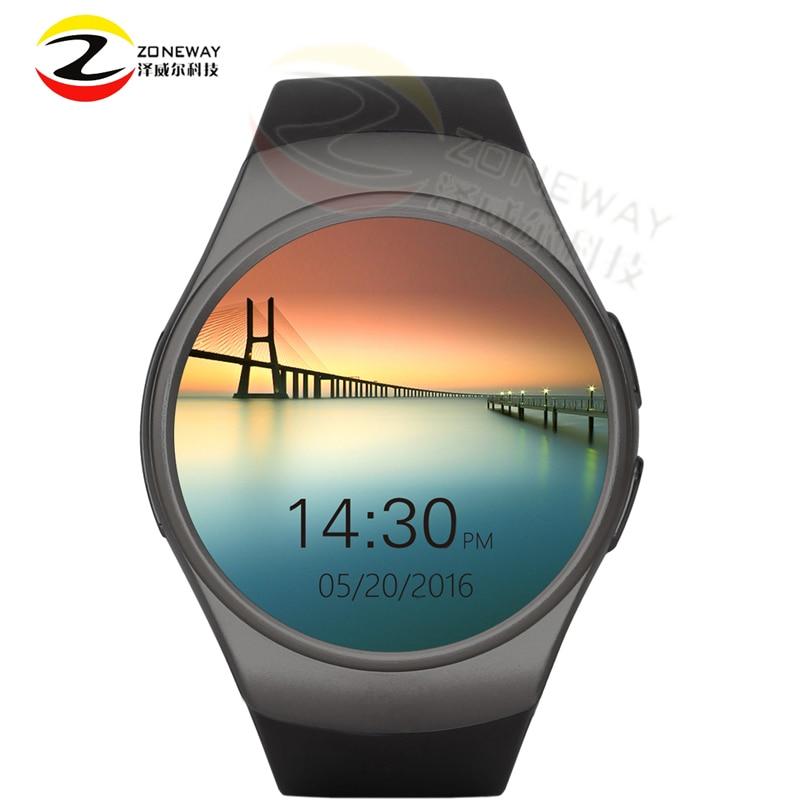 2pcs Kw18 Bluetooth smart watch full screen Support SIMTFCard Smartwatch Phone Heart Rate for apple gear s2 huawei Tracker watch
