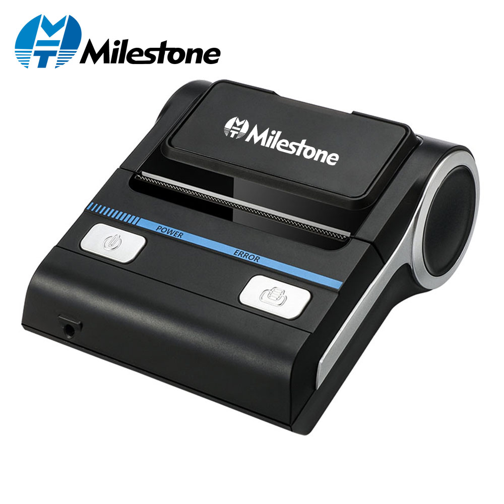 Milestone 80mm Thermal Printer Bluetooth Android POS Receipt Bill Printer Printing Machine MHT P8001 for Small