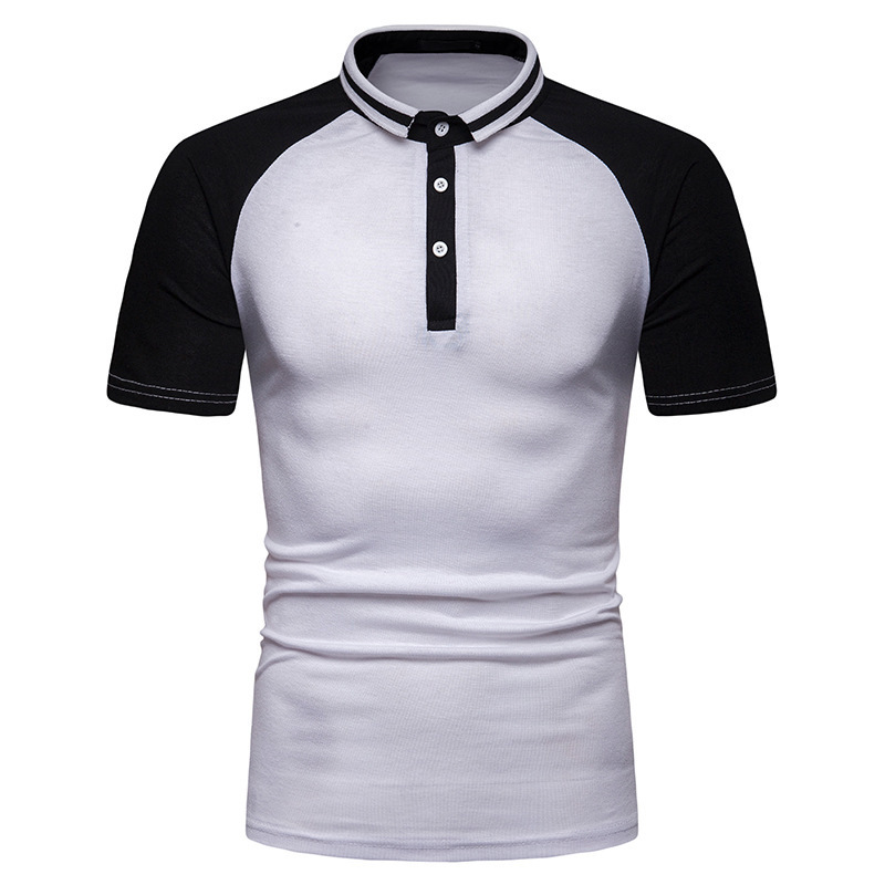 ief.G.S Casual   Polo   Shirt Men 2019 Summer Contrast Color Raglan Sleeves   Polos   Cotton Breathable Men's Bottoming Shirt Camisa