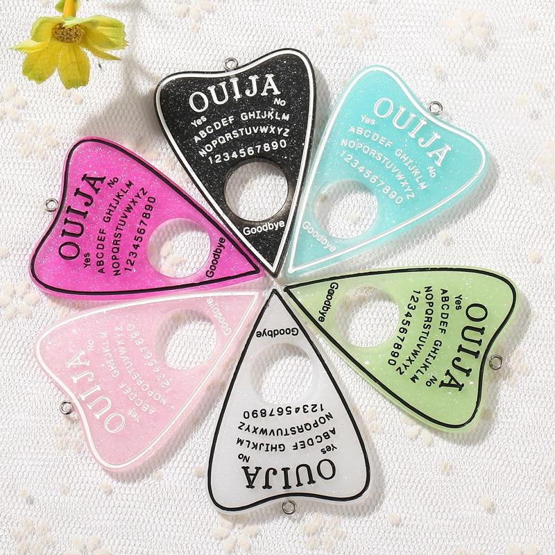 Yiyideco 5pcs flatback resin mixedcabochon Ouija board