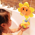 Lindo Girasol Cabeza de Ducha de Baño Del Bebé de Juguete Divertido Plástico Sun Flower Shape Kids Baño Grifo de la Ducha Toy Color Al Azar