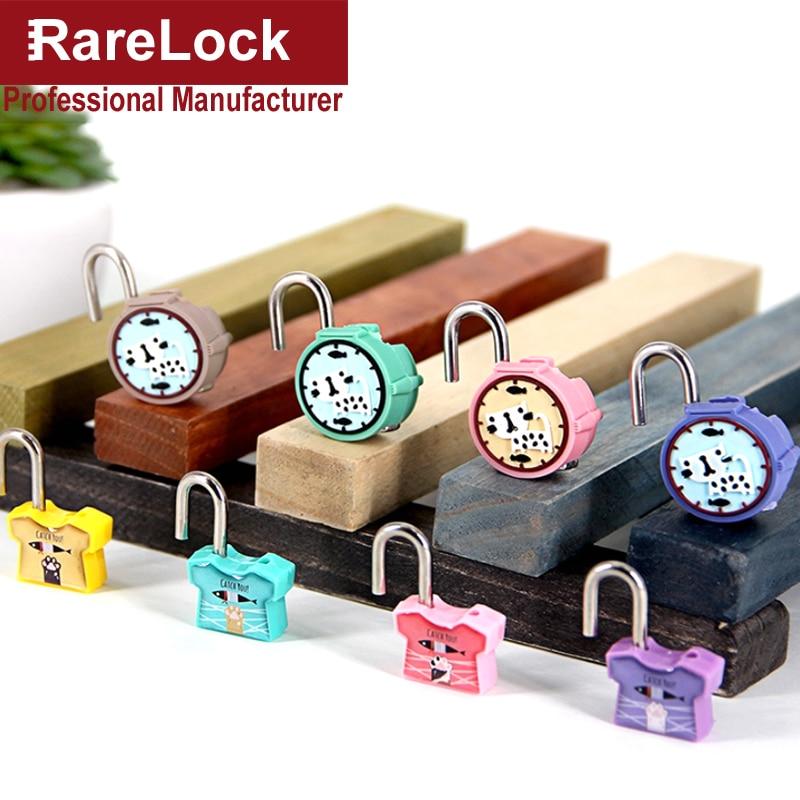 Rarelock MS511 Cartoon Padlock 2pcs/ Set Color Gift Lock for Travel School Bag Backpack Diary Jewelry Box DIY i