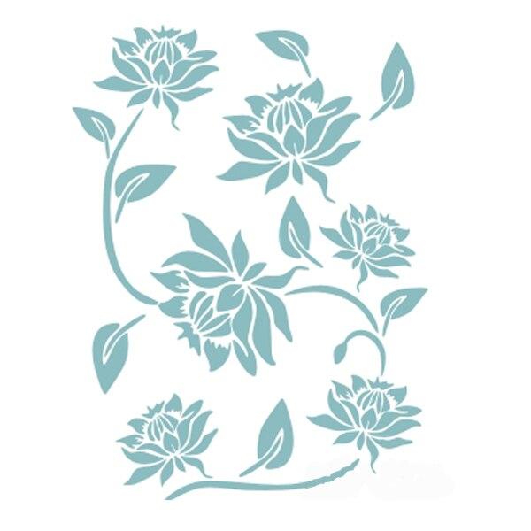 Nouvelle Vente Chaude Diy Peinture Fleur Feuille Motif Mur Motif
