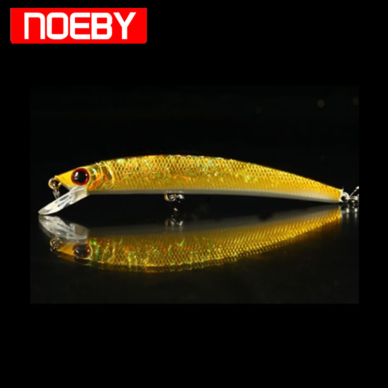 NOEBY Minnow Fishing Lure 50mm/2.4g 110mm/14g France VMC Hooks Hard Baits Isca Artificial Lures Para Pesca Leurre Mer De Peche
