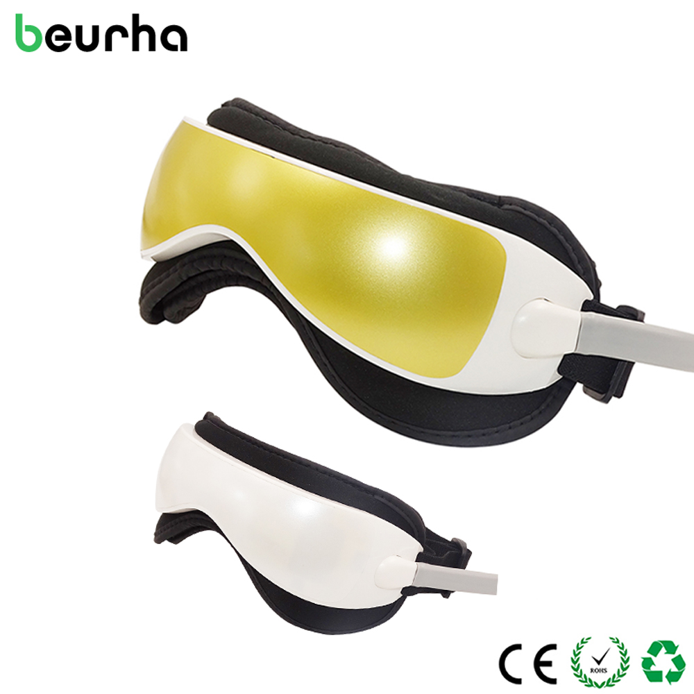 Beurha Portable Eye Relaxation Massage Music Electric Acupressure Vibration Magnetic Eyes Protection Massager Alleviate Fatigue portable eye relaxation massage eye care prevent myopia massager machine magnetic therapy vibration alleviate fatigue