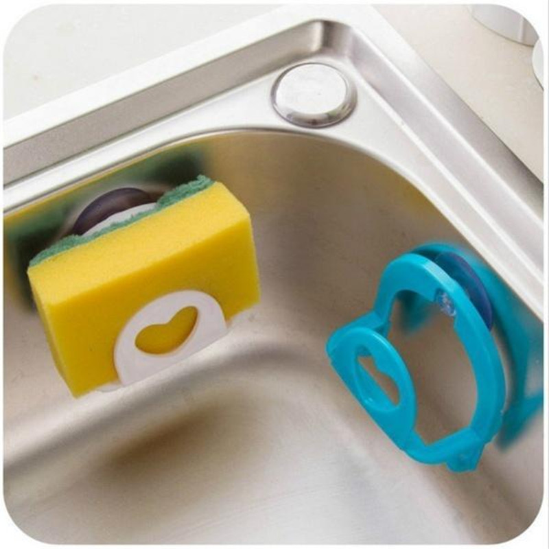 1pc Suction cup Bathroom Shelf Tower Soap Dish Holder Kitchen Sink Dish Sponge Storage Holder Rack Robe Hooks Sucker With Hooks