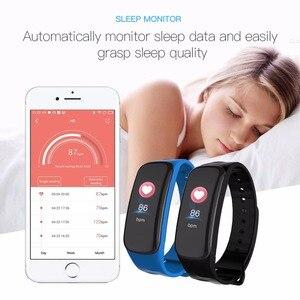 Image 2 - Smart Armband Kleur Scherm Bloeddruk Fitness Tracker Hartslagmeter Smart Band Sport Voor Android Ios Smart Polsband