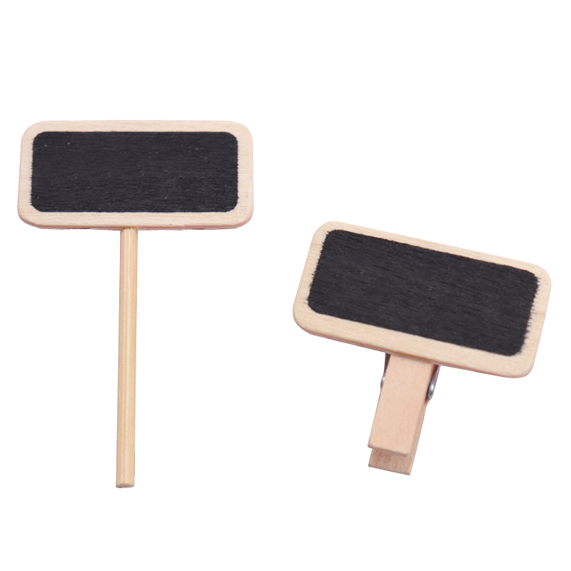 10 Pcs Small Blackboard Mini Wooden Message Board Sign Chalkboards Insert Label Price Tag Flower Gardening Potted Ornament