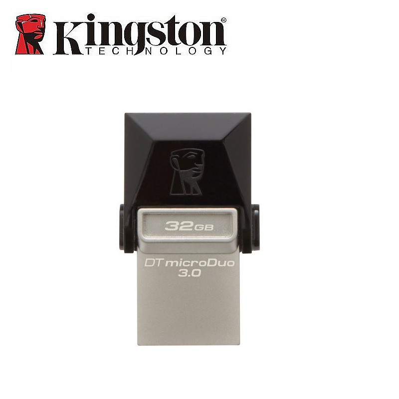 Kingston USB Flash Drive 32 GB USB3 0 Metal Memory Flash Stick OTG PenDrive 2in1 Micro