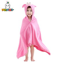 MICHLEY 0-6 Kids Towel Spring Girl Cute Hooded Cartoon Boy Beach Animal Clothes Children Colorful Cotton Bathrobe WEG