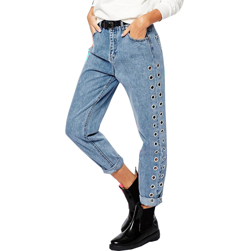 Boyfriend Baggy Jeans Women Pants Denim Vintage Straight ...