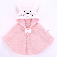 Winter Baby Boys Girls Cloak Casual Infant Warm Coats Cute Rabbit Ears Hooded Outerwear Newborn Boy