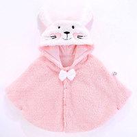 Winter Baby Boys Girls Cloak Casual Infant Warm Coats Cute Rabbit Ears Hooded Outerwear Newborn Boy