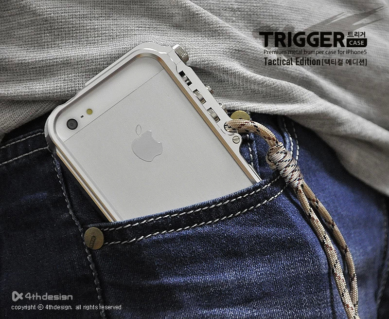 Trigger metallstoß für iphone 5 5 s SE 4 4 S M2. design premium Aviation aluminiumstoßkasten für iphone5 SE taktische edition