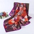 Moda selvagem 90*90 centímetros de alta qualidade senhoras xaile do lenço do lenço frete grátis para enviar presente da menina do sexo feminino