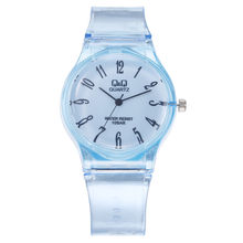 Lady Watch Girl Clock Transparent QQ Watch Student Harajuku New Reloj Motre Simple Watch Pure Color Delicate relogio femino 2019(China)