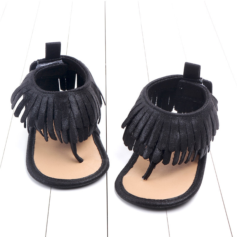 Baby comfortable sandals 2018 summer new boy girls beach shoes kids casual sandals children fashion Baby Girl Tassel Sandals (13)