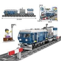 Technic Electric Rail train track Car model Bricks Compatible Legoe Building Blocks toys for Childrens gift 359Pcs