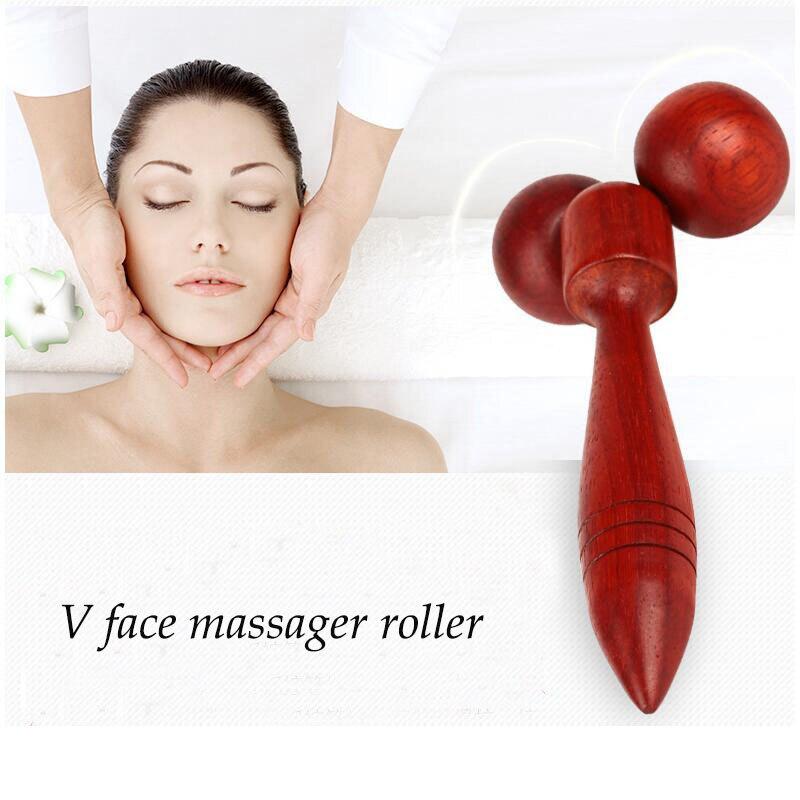 Thin Facial Roller 360 Rotation Y Shape Face Slim Massage Tools Lifting Wrinkle Remover Wooden Face Roller Massager for Women levett caesar prostate massager for 360 degree rotation g spot