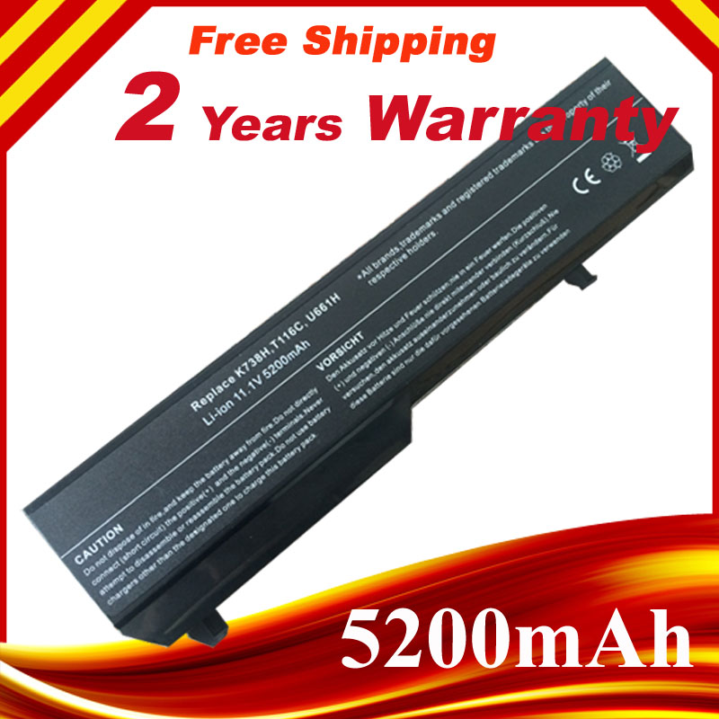 11.1V 4400mAh  Notebook battery For Dell Vostro 1310 Battery 1520 1510 T114C T112C K738H Battery Laptop