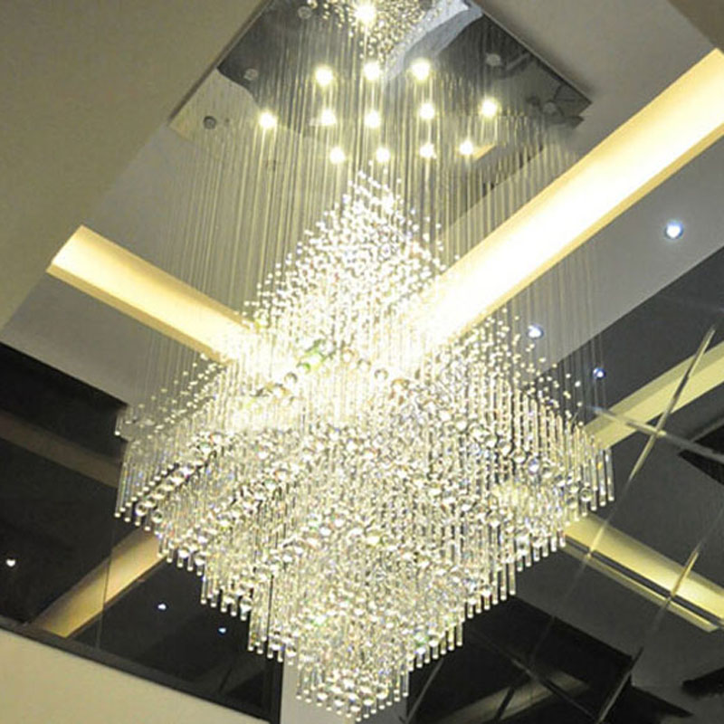 Best price luxury villa large led crystal chandeliers penthouse floor hall stairs light k9 crystal lamp hotel project lights in pendant lights from best price luxury villa large led crystal chandeliers penthouse floor hall stairs light k9 crystal lamp hot Gallery