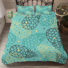 A Bedding Set 3D Printed Duvet Cover Bed Fruit Pineapple Home Textiles for Adults Bedclothes with Pillowcase #BL04