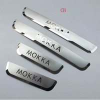 For Opel Mokka Vauxhall 2012 2013 2014 Car Styling Stainless Door Sill Plate Entry Scuff Covers