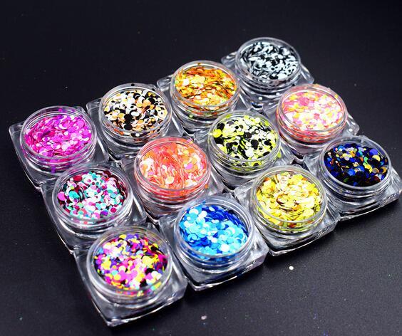 XP003 moda Glitter per unghie Polvere Splendido Lucido colorato Polvere  Polvere Manicure Unghie artistiche Scintillio Della Decorazione all ingrosso 875ab402e40